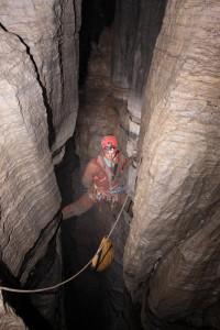Iron deep, kaskády v -400 m. Foto P. Čáslavský